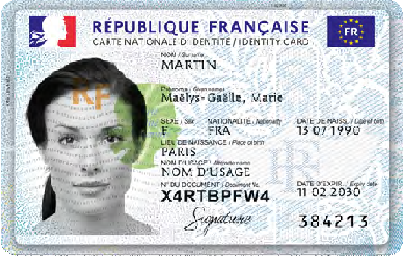 LA NOUVELLE CARTE NATIONALE D'IDENTITE