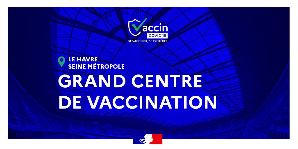 Le grand centre de vaccination Stade Océane ouvre ses portes