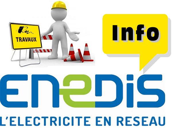 Info coupure d'électricité pour travaux
